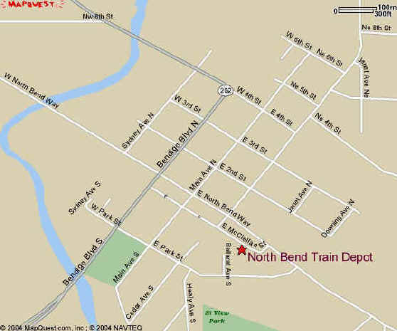 North Bend map