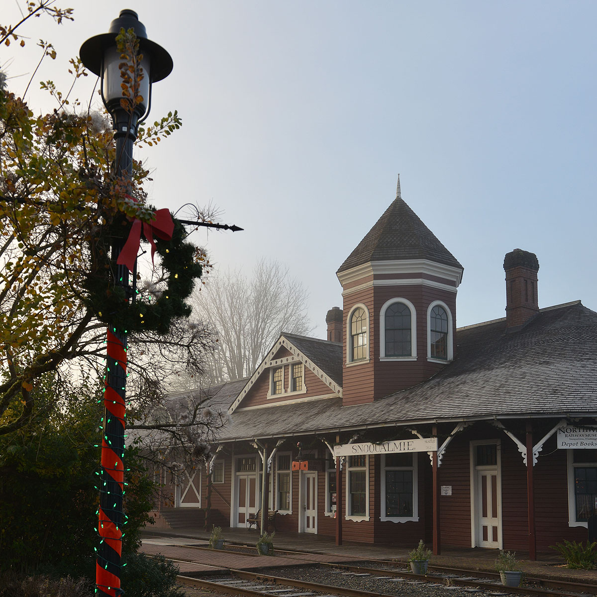 Santa Train Depot in the morning.2 croppedresized