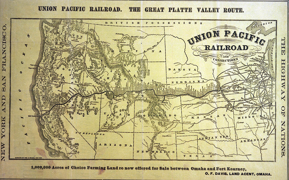 The Railroad Changed Everything - Railroad map us 1880